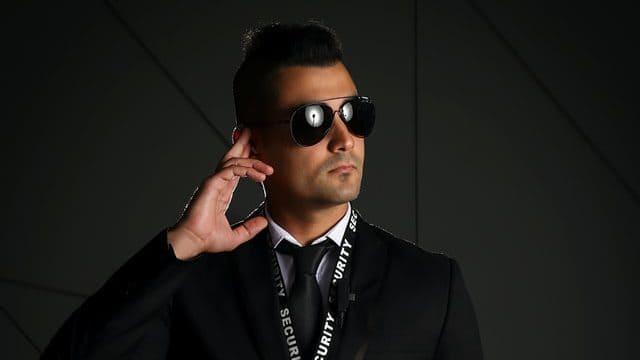 Bodyguard on duty